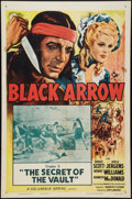 "Movie Posters:Serial, Black Arrow (Columbia, R-1955). One Sheet (27"" X 41""). Chapter 5 --""The Secret of the Vault."" Serial.. ..."