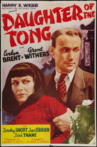 "Daughter of the Tong (Metropolitan, 1939). One Sheet (27"" X 41""). Thriller"