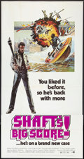 "Movie Posters:Blaxploitation, Shaft's Big Score! (MGM, 1972). Three Sheet (41"" X 81"").Blaxploitation.. ..."