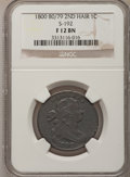 Large Cents, 1800 80/79 1C Second Hair Style Fine 12 NGC. S-192. NGC Census:(2/29). PCGS Population (3/47). Mintage: 2,822,175. Numism...