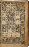 Books:Early Printing, [Book of Hours]. Les Heures a L'Usaige de Romme. Paris: Printed by Guillaume Anabat for Gilet and Germain Hardouyn, ...