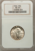 Standing Liberty Quarters: , 1926 25C MS65 NGC. NGC Census: (107/24). PCGS Population (145/34).Mintage: 11,316,000. Numismedia Wsl. Price for problem f...
