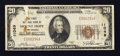 National Bank Notes:West Virginia, Mount Hope, WV - $20 1929 Ty. 1 The First NB Ch. # 11049. ...