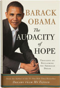 Books:Americana & American History, Barack Obama. The Audacity of Hope. New York: CrownPublishers, [2006].. First edition, second printing. Signed ...