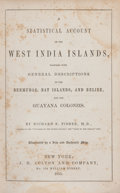 Books:Travels & Voyages, Richard S. Fisher. A Statistical Account of the West India Islands. New York: J. H. Colton and Company, 1855. Octavo...