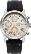 Timepieces:Wristwatch, Breitling Grand Premier Stainless Steel Chronograph. ...