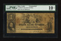 Obsoletes By State:Ohio, Harrison Branch at Cadiz, OH- State Bank of Ohio Counterfeit $1Aug. 8, 1858. ...