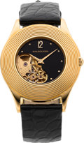 Timepieces:Wristwatch, Mauboussin Ref. 11863 Semi-Skeletonized 18k Gold Wristwatch, circa2000. ...
