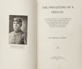 Books:Americana & American History, Marcus B. Toney. The Privations of a Private. Nashville:Printed for the Author, 1905. First edition. Small octa...