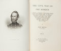 Books:Americana & American History, Wiley Britton. The Civil War on the Border.1861-1862. New York and London: G. P. Putnam's Sons, 1890,1899.... (Total: 2 Items)