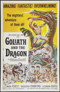 "Movie Posters:Adventure, Goliath and the Dragon (American International, 1960). One Sheet(27"" X 41""). Adventure.. ..."