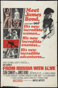 """Movie Posters:James Bond, From Russia with Love (United Artists, 1964). One Sheet (27"""" X 41""""). Style B. James Bond.. ..."""