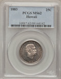 Coins of Hawaii: , 1883 25C Hawaii Quarter MS62 PCGS. PCGS Population (167/839). NGCCensus: (116/588). Mintage: 500,000. (#10987). From Th...