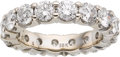 Estate Jewelry:Rings, Diamond, White Gold Eternity Band. ...