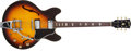 Musical Instruments:Electric Guitars, 1966 Gibson ES-335 Sunburst Semi-Hollow Electric Guitar, #821944....