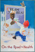 Mainstream Illustration, After EDWARD VINCENT BREWER (American, 1883-1971). On the Roadto Health, Cream of Wheat advertisement. Oil on canvas la...