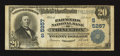 National Bank Notes:Kentucky, Princeton, KY - $20 1902 Plain Back Fr. 659 The Farmers NB Ch. #(S)5257. ...