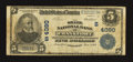National Bank Notes:Kentucky, Frankfort, KY - $5 1902 Plain Back Fr. 600 The State NB Ch. #(S)4090. ...