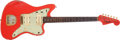 Musical Instruments:Electric Guitars, 1964 Fender Jazzmaster Fiesta Red Electric Guitar, #L49557....