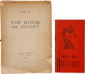 Books:Literature 1900-up, Anaïs Nin. Two Editions of House of Incest, including:The House of Incest. Paris: Siana Editions, [... (Total: 2Items)