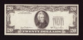 Error Notes:Third Printing on Reverse, Fr. 2073-B $20 1981 Federal Reserve Note. Choice Crisp Uncirculated.. ...