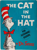 "Books:Children's Books, Dr. Seuss. The Cat in the Hat. [New York]: Random House,[1957].. First edition, first issue, with ""200/200"" o..."
