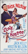 "Movie Posters:Rock and Roll, Love and Kisses (Universal, 1965). Three Sheet (41"" X 81""). Rockand Roll.. ..."