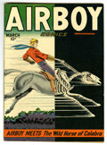 "Golden Age (1938-1955):War, Airboy Comics V5#2 Davis Crippen (""D"" Copy) pedigree (Hillman Fall,1948) Condition: VF...."