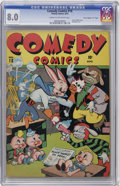 "Golden Age (1938-1955):Funny Animal, Comedy Comics #18 Davis Crippen (""D"" Copy) pedigree (Timely, 1943)CGC VF 8.0 Cream to off-white pages...."