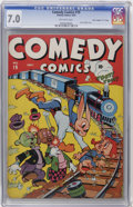 "Golden Age (1938-1955):Funny Animal, Comedy Comics #19 Davis Crippen (""D"" Copy) pedigree (Timely, 1943)CGC FN/VF 7.0 Off-white pages...."