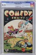 "Golden Age (1938-1955):Funny Animal, Comedy Comics #22 Davis Crippen (""D"" Copy) pedigree (Timely, 1944)CGC VF+ 8.5 Cream to off-white pages...."