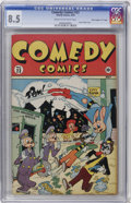 """Golden Age (1938-1955):Funny Animal, Comedy Comics #23 Davis Crippen (""""D"""" Copy) pedigree (Timely, 1944) CGC VF+ 8.5 Cream to off-white pages...."""