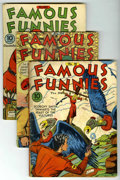 Golden Age (1938-1955):Miscellaneous, Famous Funnies Group (Eastern Color, 1937-46) Condition: Average GD.... (Total: 6)