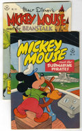 Golden Age (1938-1955):Cartoon Character, Four Color #141 and 157 Mickey Mouse Group (Dell, 1947) Condition:Average FN+.... (Total: 2)
