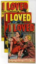 "Golden Age (1938-1955):Romance, I Loved #29-31 Group - Davis Crippen (""D"" Copy) pedigree (Fox Features Syndicate, 1949-50).... (Total: 3)"
