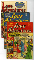 "Golden Age (1938-1955):Romance, Love Adventures #4, 5, and 10 Group - Davis Crippen (""D"" Copy) pedigree (Marvel/Atlas, 1950-51).... (Total: 3)"