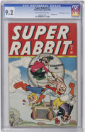 "Golden Age (1938-1955):Funny Animal, Super Rabbit #3 Davis Crippen (""D"" Copy) pedigree (Timely, 1945)CGC NM- 9.2 Cream to off-white pages...."
