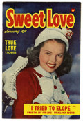 Golden Age (1938-1955):Romance, Sweet Love #3 (Harvey, 1950) Condition: FN....