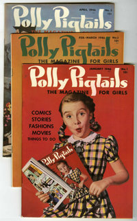 Polly Pigtails Group - Mile High pedigree (Parents' Magazine Institute, 1946-47) Condition: Average VF+.... (Total: 12)