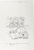 Original Comic Art:Covers, Huey, Dewey, and Louie Junior Woodchucks #58 Cover Original Art(Gold Key, 1979). ...