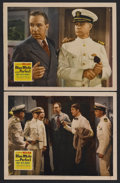"""Movie Posters:Mystery, Blue, White and Perfect (20th Century Fox, 1942). Lobby Cards (2) (11"""" X 14""""). Mystery. Starring Lloyd Nolan, Mary Beth Hugh... (Total: 3 Items)"""