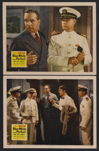 "Blue, White and Perfect (20th Century Fox, 1942). Lobby Cards (2) (11"" X 14""). Mystery. Starring Lloyd Nolan..."