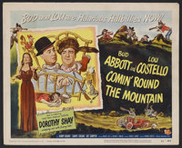 """Comin' Round the Mountain (Universal, 1951). Title Lobby Card (11"""" X 14""""). Musical Comedy. Starring Bud Abbott..."""