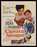 "Movie Posters:Adventure, Crossed Swords (United Artists, 1954). Window Card (14"" X 18"").Adventure. Starring Errol Flynn, Gina Lollobrigida, Cesare D..."