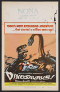 "Movie Posters:Adventure, Dinosaurus! (Universal, 1960). Window Card (14"" X 22""). Sci-FiAdventure. Starring Ward Ramsey, Kristina Hanson, Paul Lukath..."