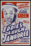 "Movie Posters:Black Films, Eddie's Laugh Jamboree (Toddy Pictures, R-1940s). One Sheet (27"" X41""). Comedy. This poster celebrated the re-release of th..."