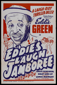 """Eddie's Laugh Jamboree (Toddy Pictures, R-1940s). One Sheet (27"""" X 41""""). Comedy. This poster celebrated the re..."""