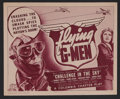 "Movie Posters:Adventure, Flying G-Men (Columbia, 1939). Title Lobby Card (11"" X 14"") Chapter1 -- ""Challenge in the Sky."" Adventure Serial. Starring ..."