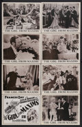 """Movie Posters:Comedy, The Girl From Maxims (London Film, 1933). British Lobby Card Set of 8 (11"""" X 14""""). Musical Comedy. Starring Frances Day, Les... (Total: 8 Items)"""