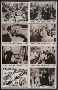 """The Girl From Maxims (London Film, 1933). British Lobby Card Set of 8 (11"""" X 14""""). Musical Comedy. Starring Fr..."""
